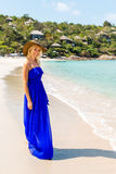 Beautiful woman on the beach Stock Image