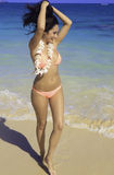 Beautiful woman at the beach Royalty Free Stock Photo