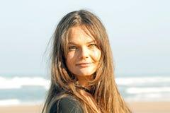 Beautiful woman on the beach Royalty Free Stock Photos