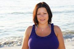 Beautiful woman at the beach Royalty Free Stock Photo
