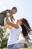 Beautiful woman, beautiful mother Royalty Free Stock Images