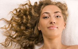Beautiful woman beautiful woman in spa salon Stock Images