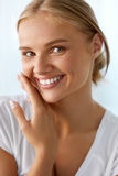 Beautiful Woman With Beauty Face, Healthy White Teeth Smiling Royalty Free Stock Images
