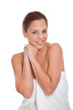 Beautiful woman with beauty face Royalty Free Stock Photography
