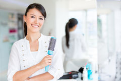 Beautiful woman at the beauty salon Stock Photography