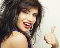 Beautiful woman with big happy smile Stock Images