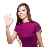 Beautiful woman with big idea Royalty Free Stock Photo