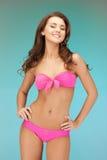 Beautiful woman in bikini. Bright picture of beautiful woman in bikini Royalty Free Stock Images