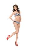 Beautiful woman in bikini. Bright picture of beautiful woman in bikini and high heels Stock Images