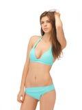 Beautiful woman in bikini. Bright picture of beautiful woman in bikini Stock Photo