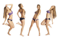 Beautiful Woman Bikini Body Set Stock Photography