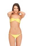 Beautiful woman in bikini. Bright picture of beautiful woman in bikini Royalty Free Stock Photography