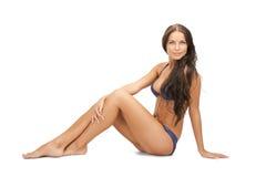 Beautiful woman in bikini. Bright picture of beautiful woman in bikini Royalty Free Stock Photos