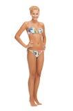 Beautiful woman in bikini. Bright picture of beautiful barefoot woman in bikini Stock Photography
