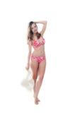 Beautiful woman in bikini and hat Stock Photography