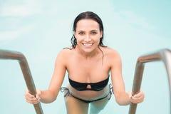 Beautiful woman in bikini relaxing Stock Photography