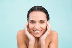 Beautiful woman in bikini relaxing Stock Image
