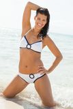 Beautiful woman in a bikini at the seaside Royalty Free Stock Photography
