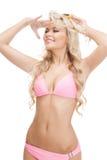 Beautiful woman in bikini with sunglasses Royalty Free Stock Photography