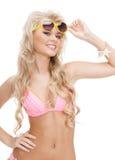 Beautiful woman in bikini with sunglasses Royalty Free Stock Image
