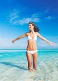 Beautiful Woman in Bikini Royalty Free Stock Images
