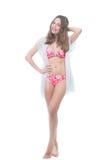 Beautiful woman in bikini stock photo