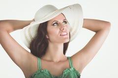 Beautiful woman in bikini on white background Stock Image