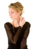 Beautiful woman in black Stock Photo