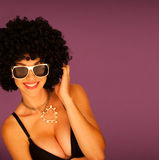 Beautiful woman with black afro Royalty Free Stock Photos