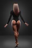 Beautiful woman in black bikini Royalty Free Stock Photos