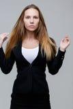 Beautiful woman in black cardigan Stock Photo