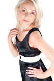 Beautiful woman in black dress Royalty Free Stock Photos