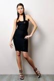 Beautiful woman in black dress. Royalty Free Stock Photo