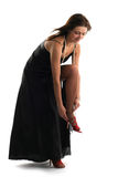 Beautiful woman in black dress Stock Image