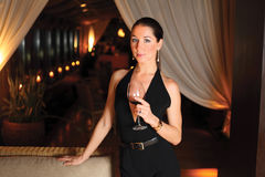 Beautiful woman with a glass of wine Royalty Free Stock Photo