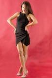 Beautiful woman in black dress Stock Photo