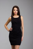 Beautiful woman in a black dress Stock Photo