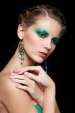 Beautiful woman on black Royalty Free Stock Image