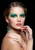 Beautiful woman on black Royalty Free Stock Photography