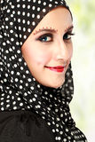 Beautiful woman with black scarf Royalty Free Stock Image