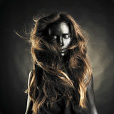 Beautiful woman with black skin Stock Photography