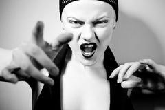 Beautiful woman in black white style Stock Photo