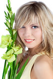 Beautiful woman with blond hair Stock Photos