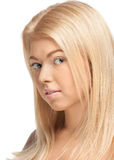 Beautiful woman with blond hair Stock Image
