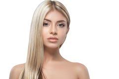 Free Beautiful Woman Blond Portrait Face Studio Stock Image - 66358791