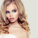 Beautiful Woman with Blonde Hairstyle Stock Photo