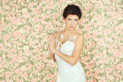 Beautiful woman - blossom concept Royalty Free Stock Photos