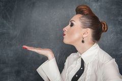 Beautiful woman blowing kiss Stock Photography