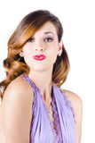 Beautiful woman blowing kiss Royalty Free Stock Images