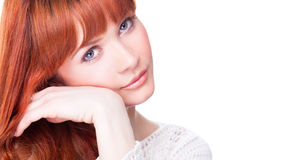 Beautiful woman with blue eyes Royalty Free Stock Photography